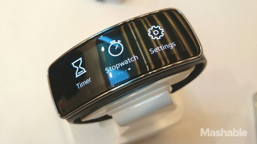 Samsung Gear Fit: A Fitness Wristband With a Curved Screen