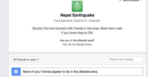 Facebook Safety Check connects those affected by devastating Nepal earthquake