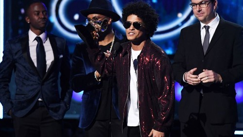 Bruno Mars takes home the Album of the Year at the 2018 Grammys
