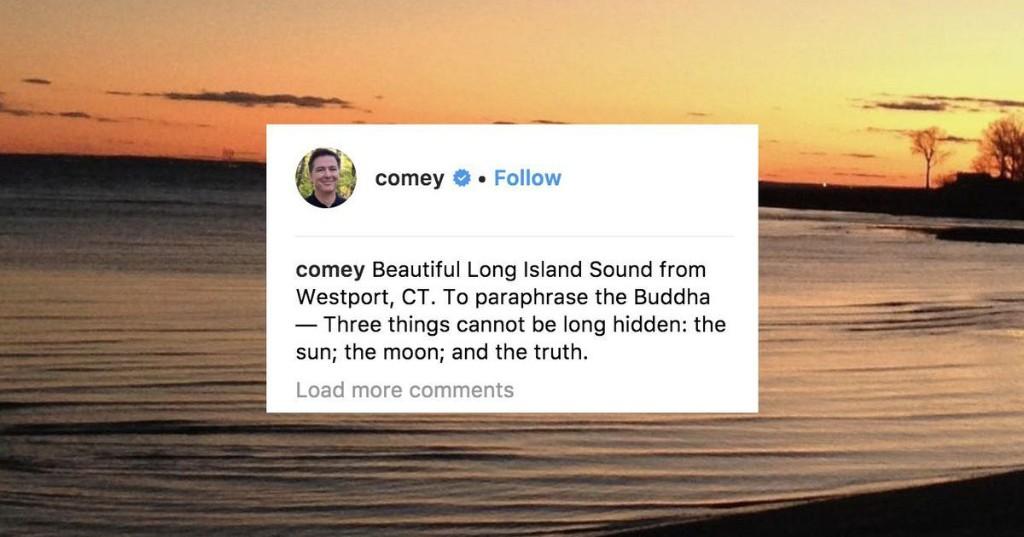 James Comey masterfully trolls Trump with a beautiful sunrise photo