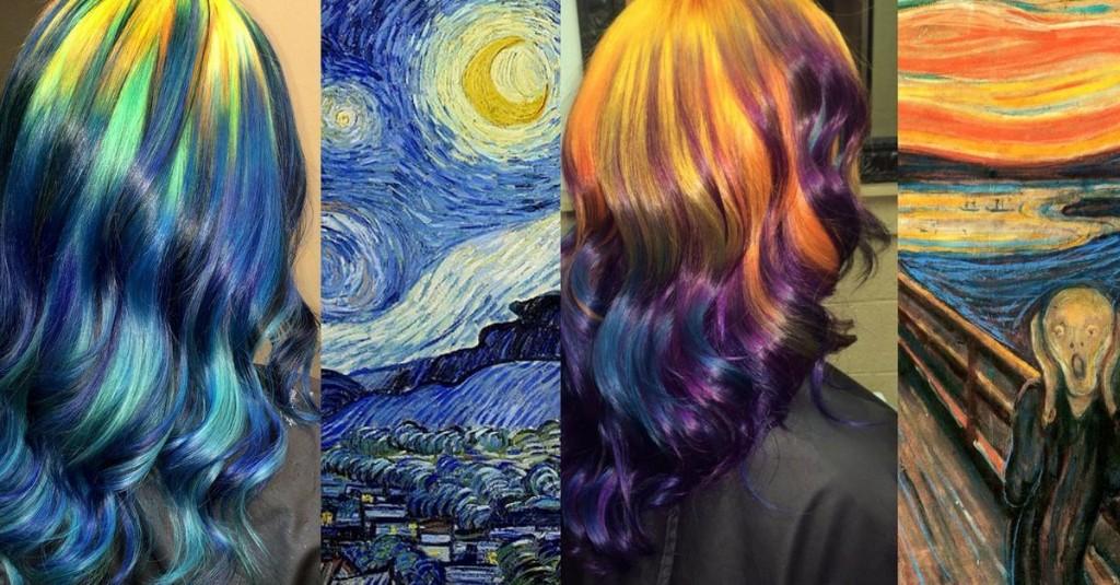 Fine art hair transforms your tresses into famous masterpieces