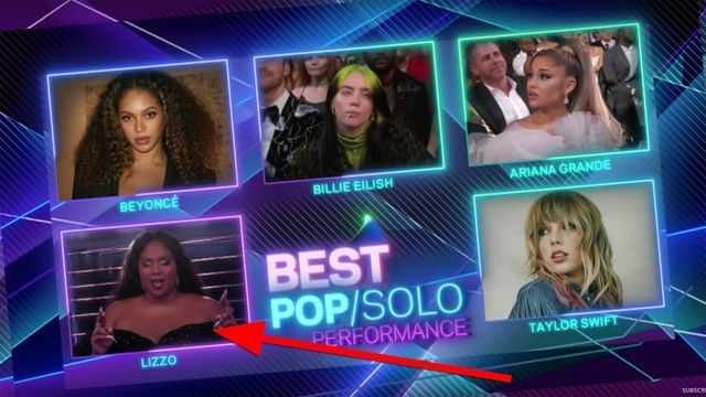 """Lizzo quietly chants """"Beyoncé"""" before her Grammys win"""