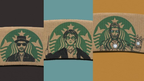 Pop art meets coffee with #sleevebucks