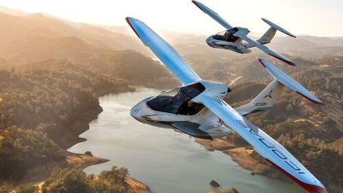 This airplane's wings fold up so you can take it on your next camping trip