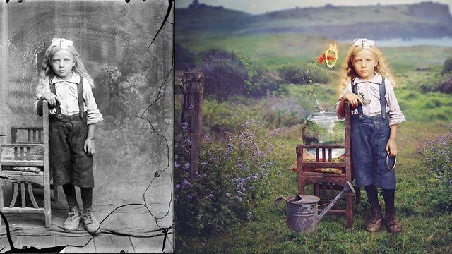 Artist stunningly colorizes old photos with a whimsical twist