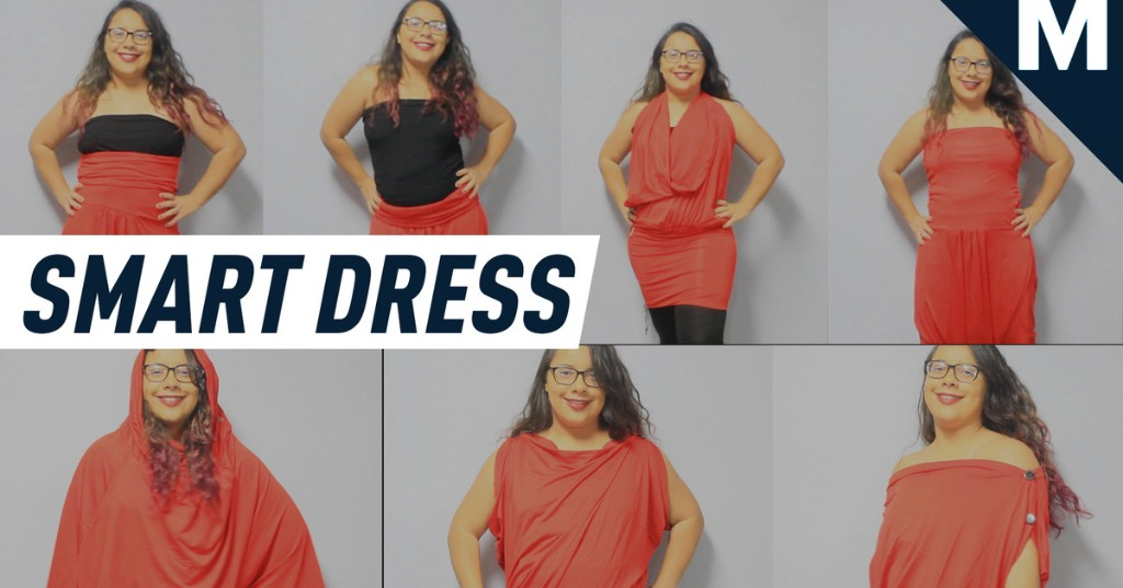 Change looks as fast as a chameleon with this travel dress
