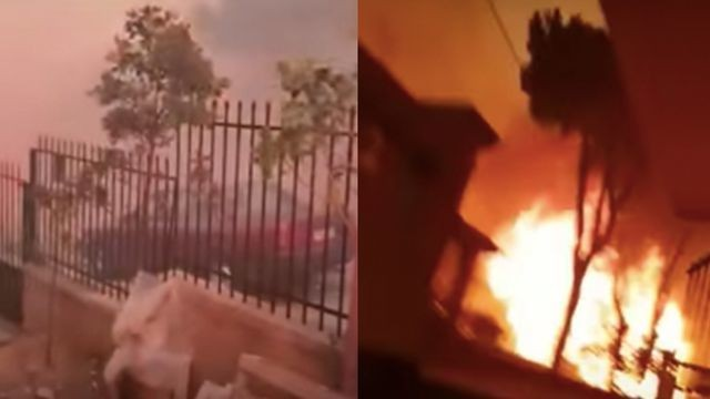 Terrifying first-person footage shows just how devastating the wildfires in Greece are