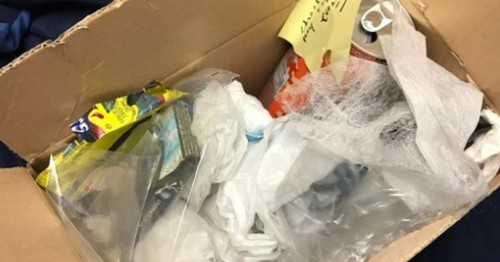 Hero mom sends her son a care package full of garbage