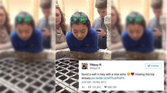 No prizes for guessing why this clip of a girl singing into a well has gone viral
