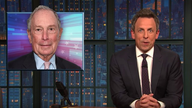 Seth Meyers savagely roasts the billionaires trying to take on Warren and Sanders