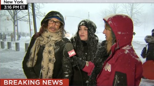 Steven Tyler stumbles upon live CNN broadcast, gives sage snowstorm advice