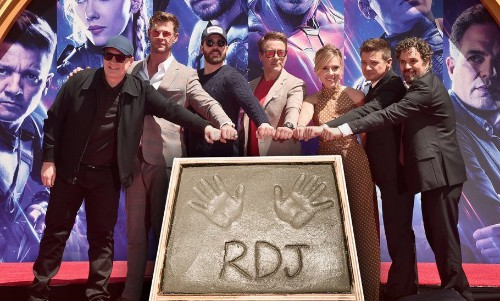 The Original Six Avengers Immortalised Their Handprints At The TCL Chinese Theatre