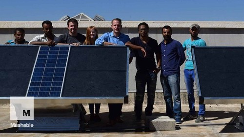 These solar panels are actually creating drinking water out of thin air