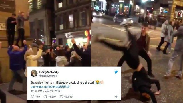 This video of Scottish people dancing in the street is guaranteed to cheer you up