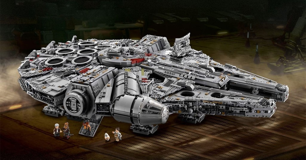 The Millennium Falcon is one of the largest Lego models ever created