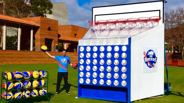 These clever dudes built an epic basketball and 'Connect Four' hybrid game