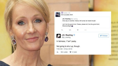 J.K. Rowling keeps her cool during election, calmly destroys Twitter trolls