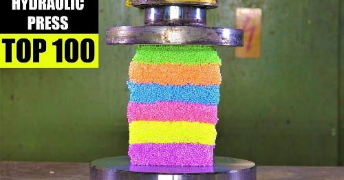 Please enjoy 100 of the most satisfying hydraulic press crushes ever