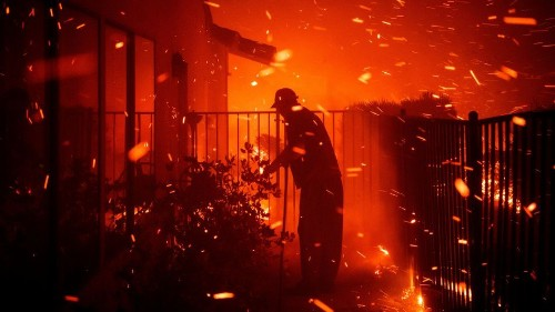 Extreme wave of embers pours over Los Angeles County terrain