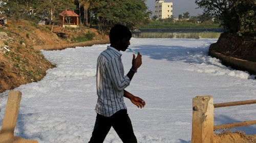 India's Silicon Valley is covered in a toxic foam