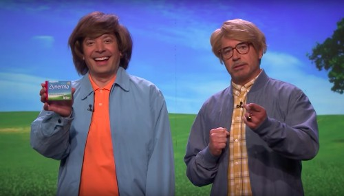 Robert Downey Jr. And Jimmy Fallon Are Terrible Medicine Salesmen In Even Worse Wigs - Entertainment