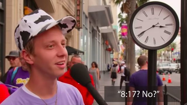 Young people try to read an analogue clock and fail pretty spectacularly