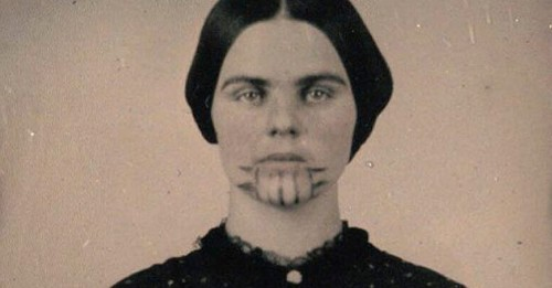 The story of the young pioneer girl with the tattooed face