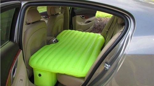 Inflatable mattress turns your back seat into a nap pod fit for a startup