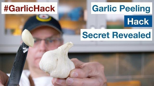 Chef demonstrates exactly how to pull off that viral garlic peeling hack
