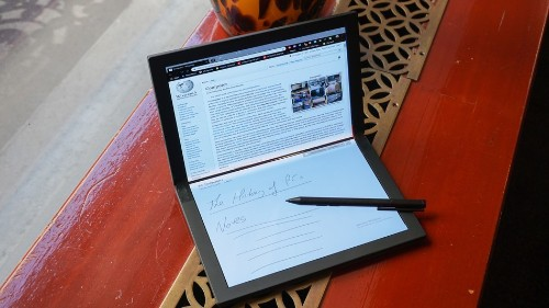 Lenovo announces world's first foldable Windows PC that bends in half like a book