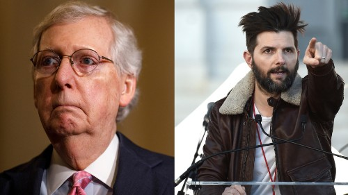 Adam Scott roasts Mitch McConnell for using a 'Parks & Rec' GIF