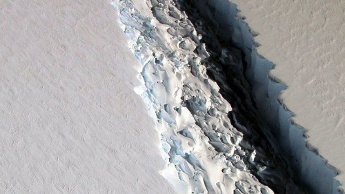 Antarctic ice shelf crack is moving at record speeds, poised to cleave off massive iceberg any minute