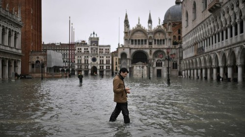Photos show Venice under water after highest tide in 50 years
