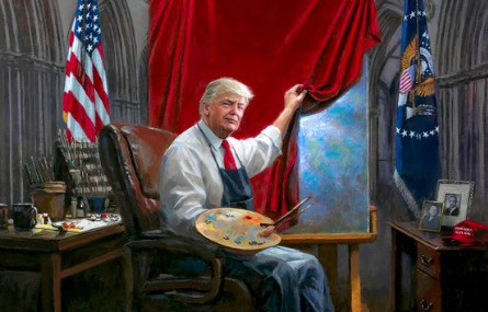 People are meme-ing this truly bizarre Trump painting - Culture - Mashable SEA