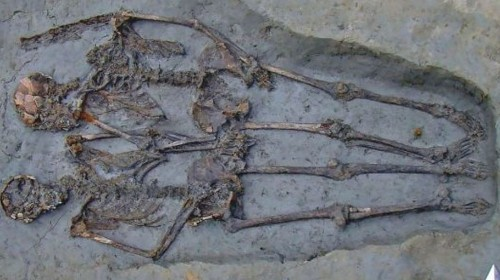 Researchers Say The 'Lovers Of Modena' Skeletons Were Both Male