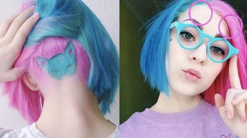 The rainbow cat undercut is every feline fan's dream hairstyle