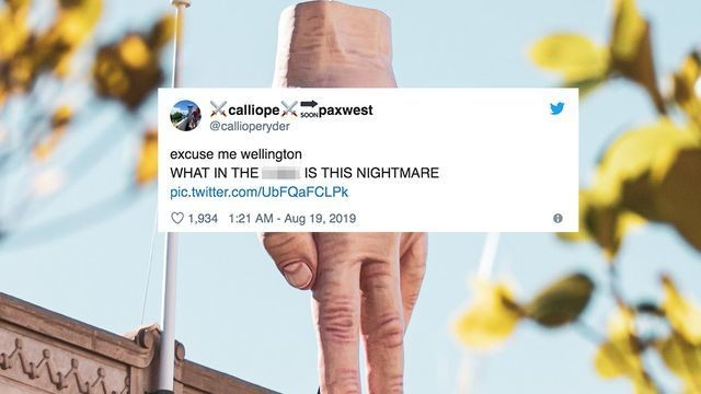 This giant and deeply terrifying hand sculpture is dividing the people of New Zealand