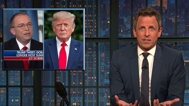 Seth Meyers nails why the White House's shocking Ukraine admission sums up Trump