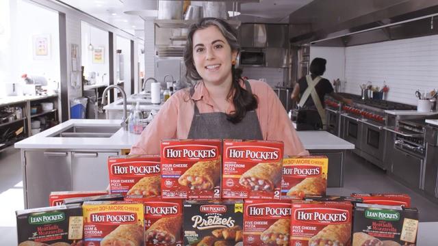 Watch Bon Appétit's Claire Saffitz make highly-anticipated gourmet Hot Pockets