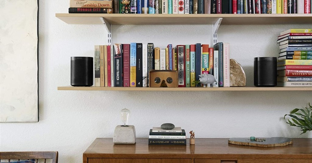This set of Sonos One SL speakers comes with a free Amazon gift card