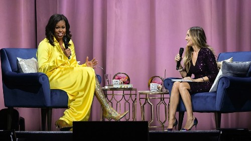 The internet just died over Michelle Obama's thigh-high gold boots