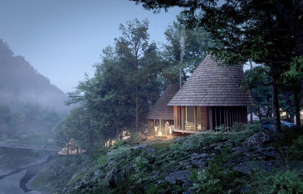Japan is building a luxury campground that looks like it came out of a Studio Ghibli film