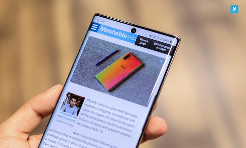 Samsung Galaxy Note 20 Might Have A 'Waterfall' Display', Hints Patent