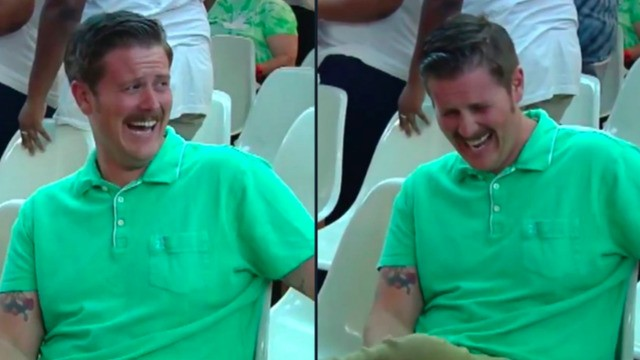 The #GreenShirtGuy laughing at pro-Trump protesters is Twitter's new hero