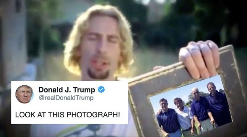 Donald Trump Tweeted A Nickelback Meme And We Should All Just LOG OFF