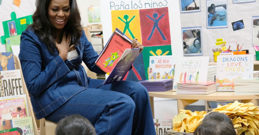Michelle Obama will entertain your kids for you