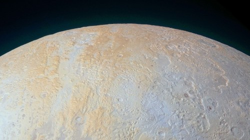 Take in the beauty of Pluto's frozen north pole canyons
