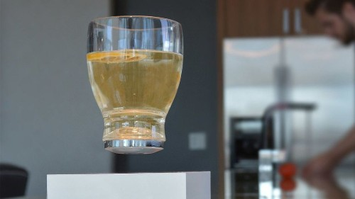 This levitating cup will literally lift your spirits