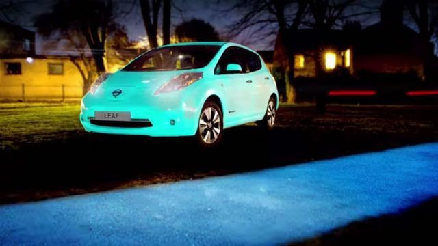 Glow-in-the-dark Nissan should grab everyone's attention