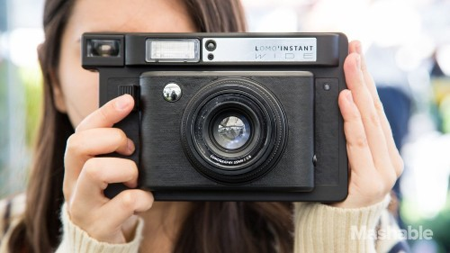 The Lomo'Instant Wide instant camera makes even the boringest parties a blast